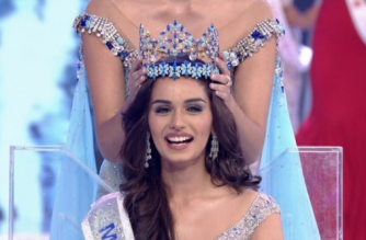 India's Manushi Chhillar was crowned Miss World on Saturday (November 18) as the beauty queen beat out the competition to take first prize at the coveted pageant.(photo grabbed from Reuters video)
