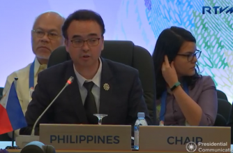 Foreign Affairs Secretary Alan Peter Cayetano attended the ASEAN-UN Summit in place of President Rodrigo Duterte, chair of this year's ASEAN, who attended bilateral talks with Rusia Prime Minister Dmitry Medvedev on Monday night. /RTVM/
