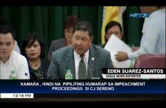House leadership will no longer ask CJ Sereno to attend impeachment hearing