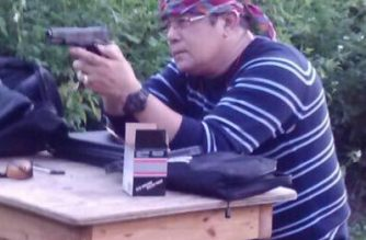 """Bernandino Gawala Bolatete was arrested for possession of a gun silencer that was not registered to him. Authorities say he planned to """"shoot up"""" a mosque in Jacksonville, Florida./Nandie Bolatete Facebook/"""