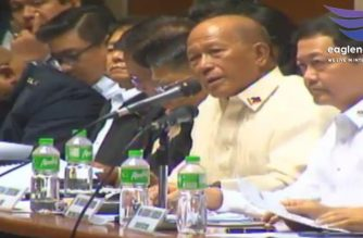 Resource speakers facing the joint session of Congress that will determine the fate of President Rodrigo Duterte's request for a one-year extension of martial law in Mindanao. Deputy Executive Secretary Menardo Guevarra is seated beside Defense Secretary Delfin Lorenzana. /Eagle News Service/