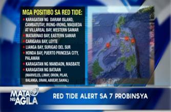 Pitong probinsya sa bansa, positibo pa rin sa red tide