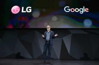 Scott Huffman, Google Vice President of Engineering for Google Assistant, presents Google assistant enabled devices during the LG press conference at the Mandalay Bay Convention Center during CES 2018 in Las Vegas on January 8, 2018.   / AFP PHOTO / Mandel Ngan