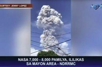 Karagdagang 7,000 hanggang 8,000 na pamilya, ililikas sa Mayon area – NDRRMC