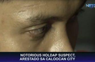 Notorious holdaper, arestado sa Caloocan City