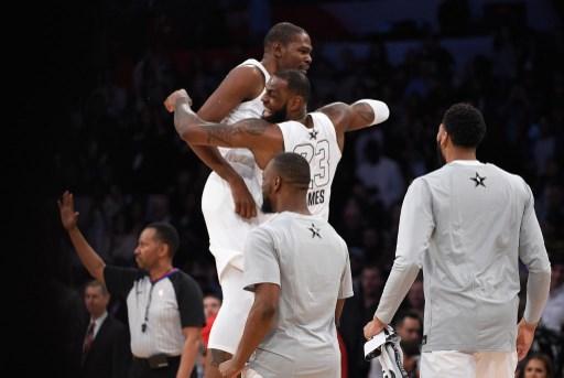 a4b18567b03d NBA  Team LeBron rallies to beat Team Stephen in All-Star classic