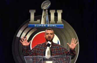 Justin Timberlake speaks during the Pepsi Super Bowl LII Halftime Show press conference February 1, 2018 in Minneapolis, Minnesota. / AFP PHOTO / TIMOTHY A. CLARY
