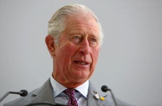 Britain's Prince Charles, Prince of Wales speaks to staff members during a tour of the British Airways Maintenance Centre (BAMC) at Cardiff Airport in south Wales on February 21, 2020. - The BAMC was opened by His Royal Highness in July 1993 and he is visiting again to celebrate the 100th anniversary of the company. The facility currently employs 550 local people in highly skilled engineering jobs. (Photo by GEOFF CADDICK / POOL / AFP)